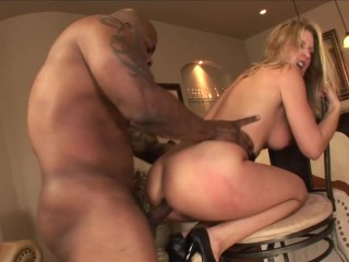 Pette Busty Blonde Sldes a Hard Monster BBC n Her Wet Pussy