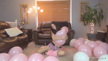 Kylie Popping Pink Balloons