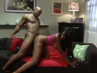 Bg booty and tts ebony mlf takes a huge black cock