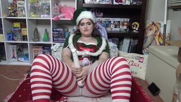 Naughty Christmas Elf Orgasm