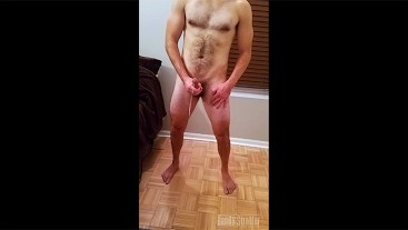 Moaning Hairy Straight Guy's Happy Birthday Cumshot