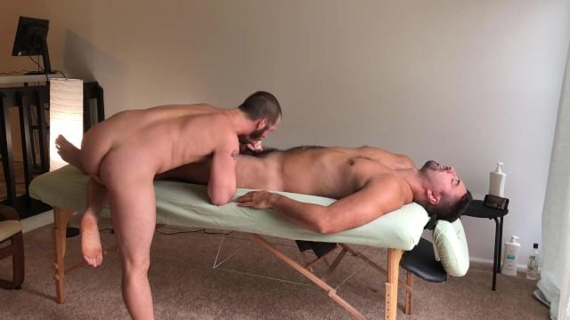 Long gay boy fuck tube Asher devin bareback massage table fuck w cumshot