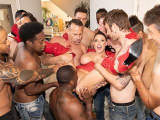 Jules Jordan Swarmed By Guys Angela Whtes Bggest Blowbang Ever Angela White