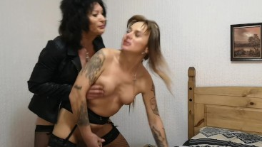 Dirty rough old tranny talking dirty to attractive younger transexual woman
