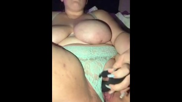 bbw panty slut squirts all over herself