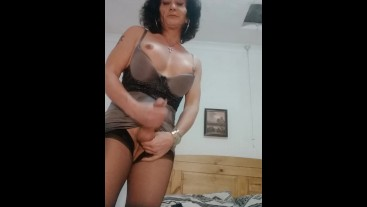 Rough old tranny clip wanking cock close up ,for a few seconds