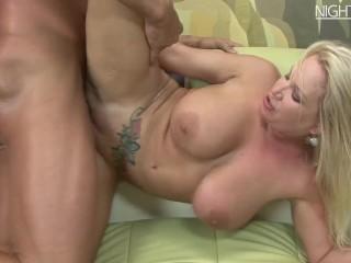 Blond Milf got Fucked + Mega Creampie