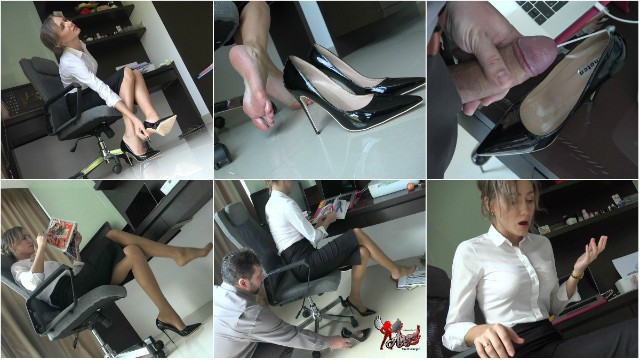 Uk secretary london upskirt 469 cumming in my secretarys shoe