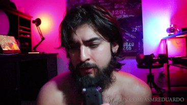 ASMR - Boyfriend Role Play - Shirtless Bearded Handsome Man Ft. Hairy Chest