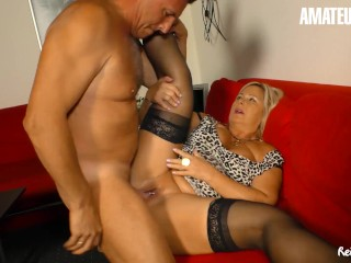 Reife Swinger – Mature German BBW Hard SEX with Neighbor – AmaterEuro