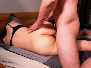 Petite blonde with big ass oiled up and accidental creampie - PN
