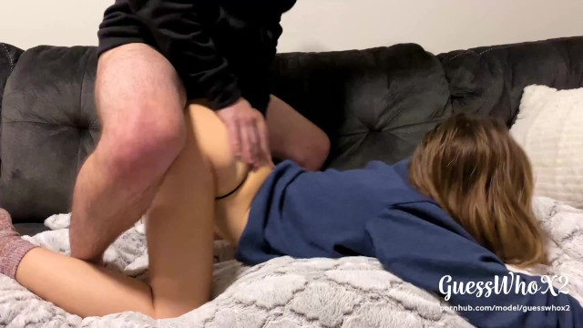 Real sex lessons Real amateur college couple thong fuck after class, pussy eating orgasm 4k