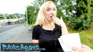 Public Agent blonde teen Russian Vera Jarw fucked outside