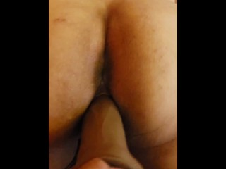 My pussy getting fucked by my 8in fat dildo