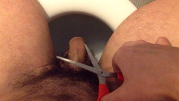Trim the ends. Cutting my penis.