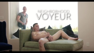 NextDoorRaw Muscle Jock Watches Neighbor Jerk Off Before Fucking Him Raw