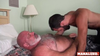 MANALIZED Thirsty Stephen Harte Raw Riding To Cum On Daddy