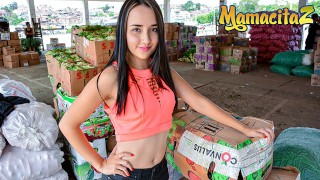 CarneDelMercado - Small Tits Latina Teen Rough POV Sex Afterwork MamacitaZ