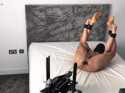 Ass Stretched Out and Pounded In Bondage By Fucking Machine