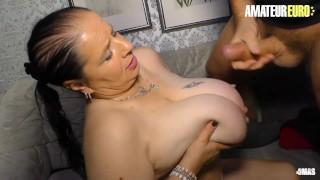 AMATEUR EURO - Nonna tedesca BBW arrapata per un grosso cazzo grasso