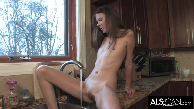 Stunning Brunette Toys Both Holes to Intense Climax