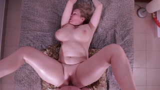 Busty all natural milf deepthroats & gets ass fucked PAWG anal POV