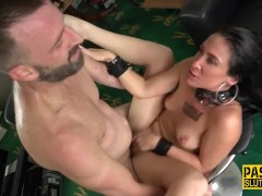 Bound And Ball-gagged Victim Fingered And Fucked