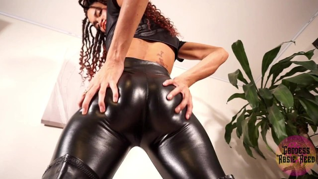 Rosicrucian sex - Goddess rosie reed leather pants joi ebony female domination