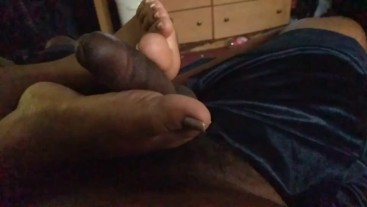 Meaty Feet rubbing BBC