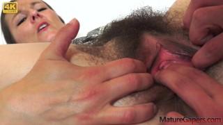 Hairy MILF Valentina Ross fucked hard on Mature Gapers
