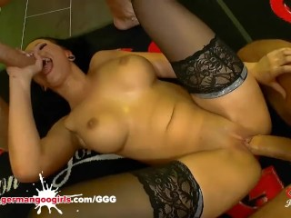 Jolee Love lkes to get blowjobs and anal doggy rdes German Goo Jolee Love