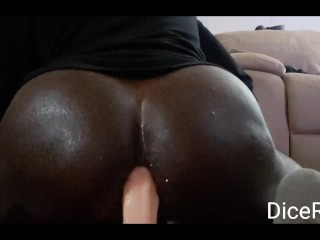 Oil bottom plays with 8 inch dildo...