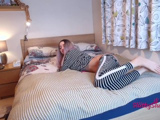 Lazy pyjama anal n the bedroom wth ATM