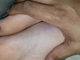 A FOOT FONDLING FANTASY: Sneaking Into Her House at Night to Touch Her Feet
