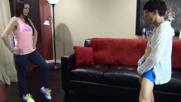 Brittany's Ballbusting Interview with Kick Demo