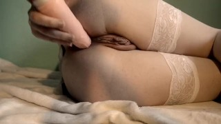 Slutty maid girl gets orgasm and DAP