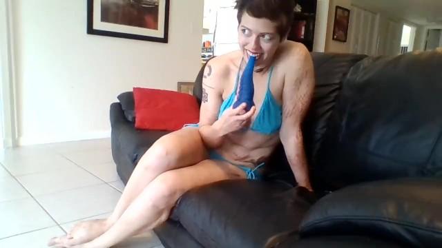 Skimpy breast Public play in a very skimpy bikini