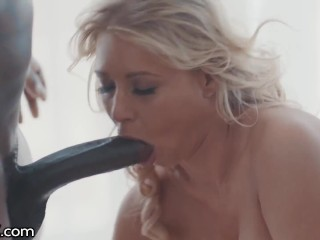DarkX Big Tit Blonde Is Convinced To Fuck Her BBC Coworker
