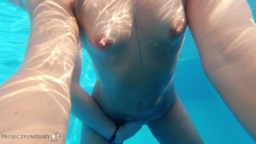 naked underwater fuck in paradise infinity pool with cum ass_directors cut
