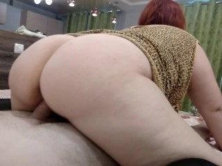 Redhead mature mom suck and rde youthful dck real amateur BBW MLF sex