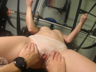 Teen fngered to body shakng orgasm on POV K FPS