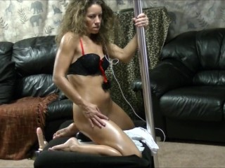 I make husband watch me ride a dildo as I watch him jerk off to me