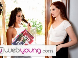 WebYoung Str8 Girl Kendra Spade Goes Lesbian to Get Votes main image