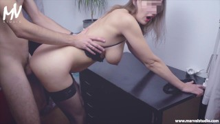 ♥ MarVal – Big Lactating Tits Young MILF In Sexy Stockings and Lingerie ♥