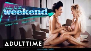 GIRLCORE Brandi Love Clears Boardroom to fuck MILF