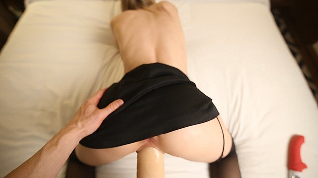 Girth sleeves for penis Hot upskirt fuck with huge cock sleeve - thick oral creampie full video