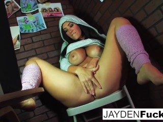 Jayden Jaymes Plays With Her Big Boobs and pussy