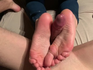 Hot blonde with soft feet wants your cum!!! 4k ultra HD