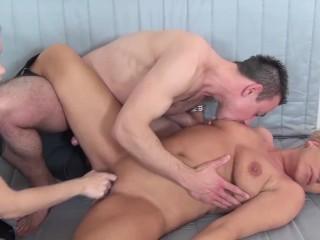 chubby mom threesome fst fucked