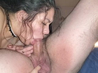 Sucked Daddy Dck he came so hard when fngered hs ass